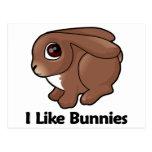 I Like Bunnies Postcard