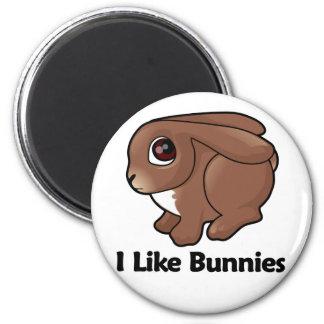 I Like Bunnies Refrigerator Magnet