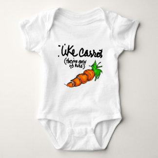 I like carrots baby bodysuit