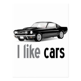 I like cars postcard