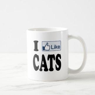 I Like Cats Coffee Mug