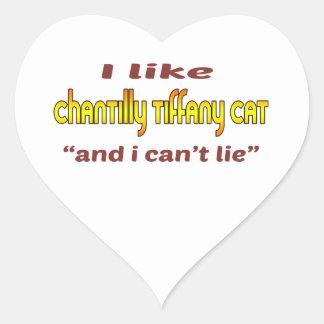 I Like Chantilly Tiffany Cat Heart Sticker