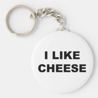 I Like Cheese Keychain