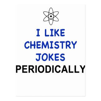 I LIKE CHEMISTRY JOKES PERIODICALLY POSTCARDS