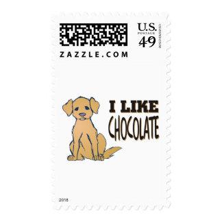 I Like Chocolate Labrador Retriever Theme Stamps