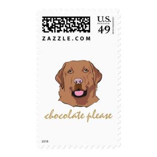 I Like Chocolate Labrador Retriever Theme Postage
