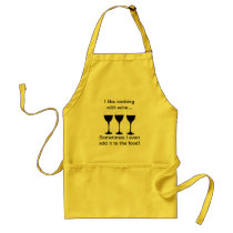 I like cooking with wine - Funny apron