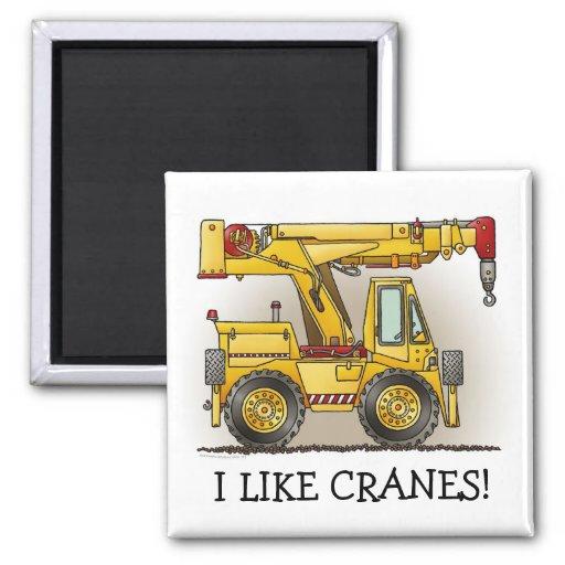 I Like Cranes Crane Truck Magnet