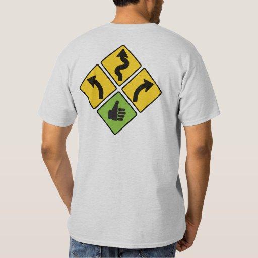 I like curves road sign motorcycle shirt