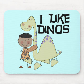 I Like Dinos African American Boy Tshirts Mouse Pad