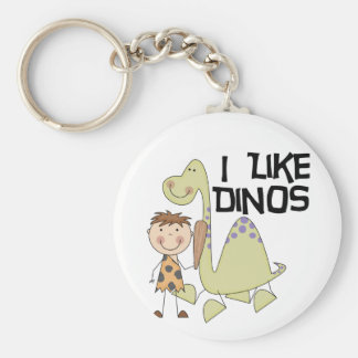 I Like Dinos - Boy Tshirts and Gifts Keychains