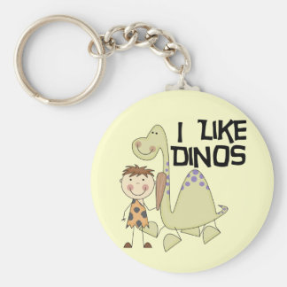 I Like Dinos - Boy Tshirts and Gifts Key Chain