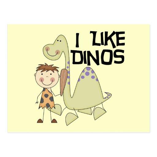 I Like Dinos - Boy Tshirts and Gifts Postcard