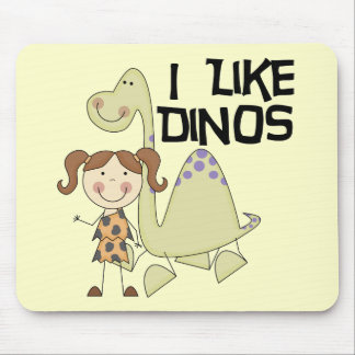 I LIke Dinos-GIrl Tshirts and Gifts Mouse Pad