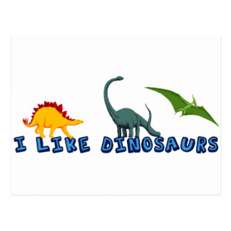 I Like Dinosaurs Postcard