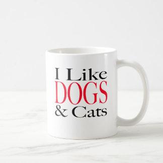 I Like DOGS and Cats Classic White Coffee Mug