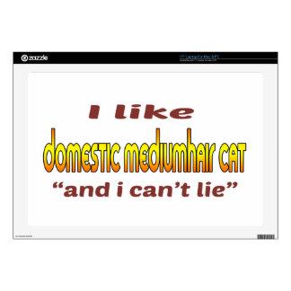I Like Domestic mediumhair Cat Laptop Skins