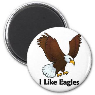 I Like Eagles 2 Inch Round Magnet
