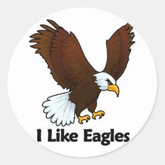 I Like Eagles Classic Round Sticker
