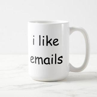 I like emails coffee mug