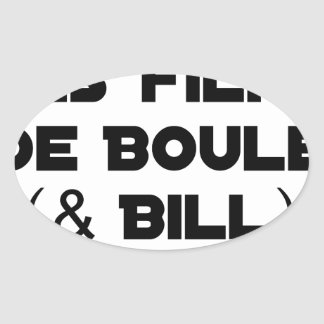 I like Films of Ball (& Bill) - Word games Oval Sticker