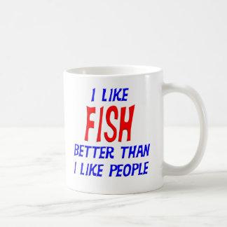 I Like Fish Better Than I Like People Mug
