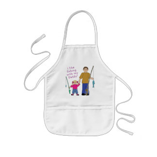 I Like Fishing With My Daddy Girl in Pink Kids' Apron