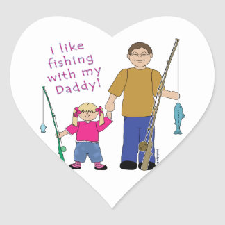 I Like Fishing With My Daddy Girl in Pink Stickers