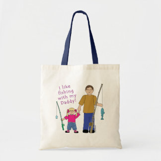 I Like Fishing With My Daddy Girl in Pink Tote Bag