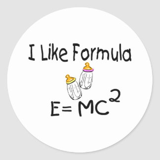 I Like Formula E=MC2 Classic Round Sticker