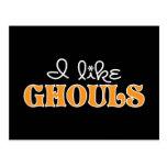 I Like Ghouls Postcard