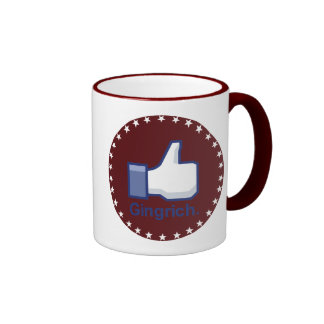 I LIKE GINGRICH RINGER COFFEE MUG