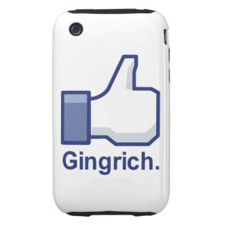 I LIKE GINGRICH TOUGH iPhone 3 CASE
