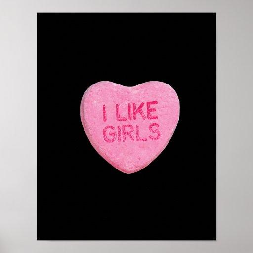 I LIKE GIRLS - .png Print