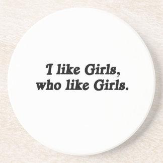 I like girls who like girls beverage coasters