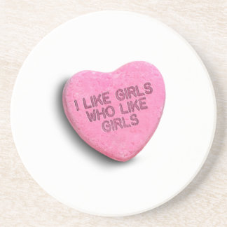 I LIKE GIRLS WHO LIKE GIRLS CANDY COASTERS