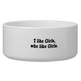 I like girls who like girls dog food bowl