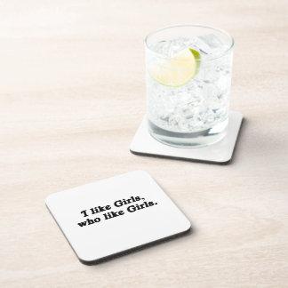 I like Girls who like Girls .png Beverage Coasters