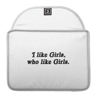 I like Girls who like Girls .png MacBook Pro Sleeves