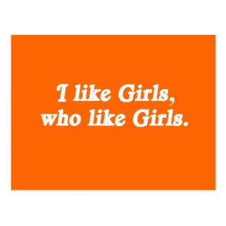 I like girls who like girls postcard
