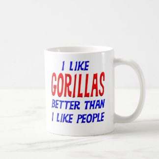 I Like Gorillas Better Than I Like People Mug