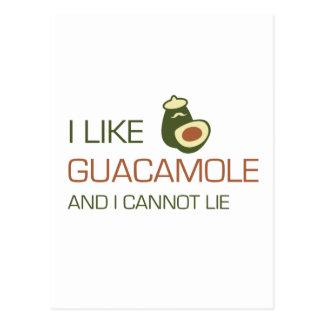 I like guacamole and I cannot lie Postcard