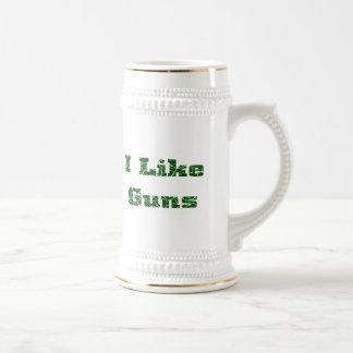 I Like Guns Beer Stein