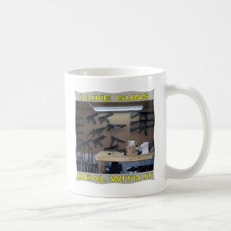 I Like Guns Deal With It Coffee Mug