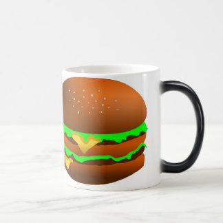 I like hamburgers, 11 oz magic heat Color-Changing coffee mug