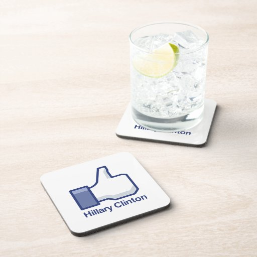 I LIKE HILLARY CLINTON.png Drink Coaster