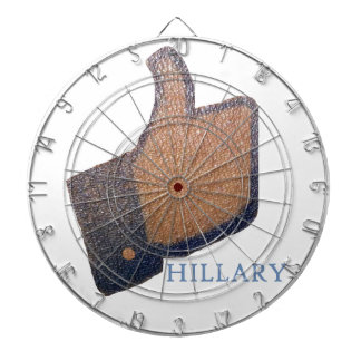 I LIKE HILLARY DARTBOARD WITH DARTS