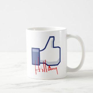 I LIKE HILLARY -.png Mug