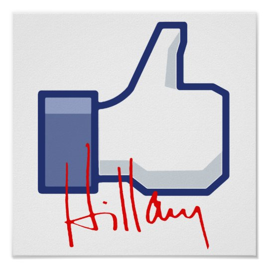 I LIKE HILLARY -.png Poster