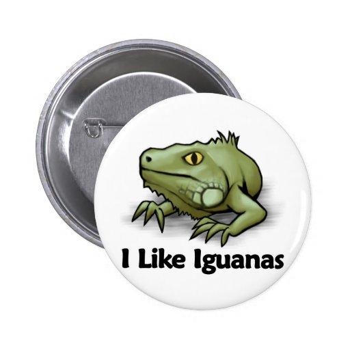 I Like Iguanas 2 Inch Round Button